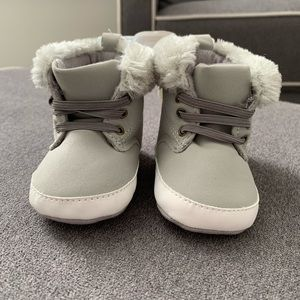 Grey Baby Boots Size 3-6 months